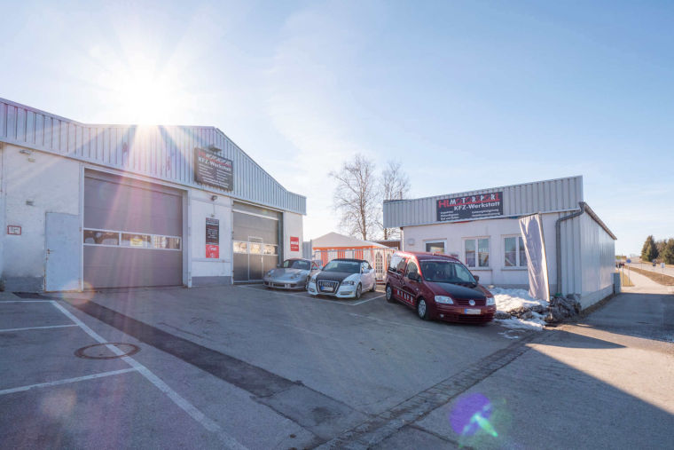 Firmengebäude der Autowerkstatt HL Motorsport in Kaufbeuren